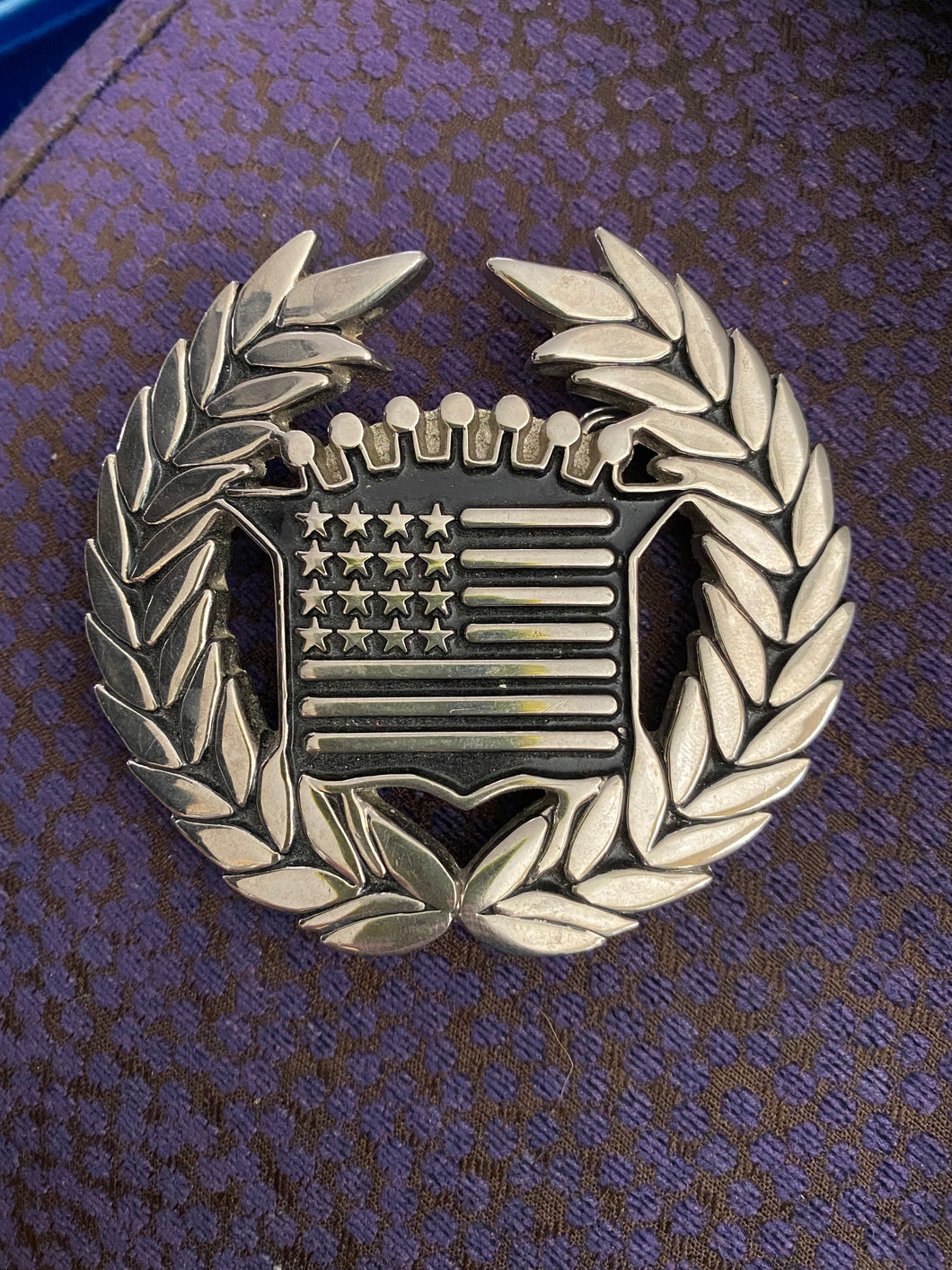 Famous Stars and Stripes Belt Buckle