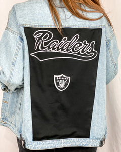 Las Vegas Raiders Denim Jersey Jacket