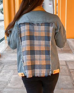 Mellow Yellow Flannel Denim Jacket