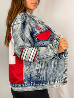 Load image into Gallery viewer, Ohio State Buckeyes Denim Jersey Jacket