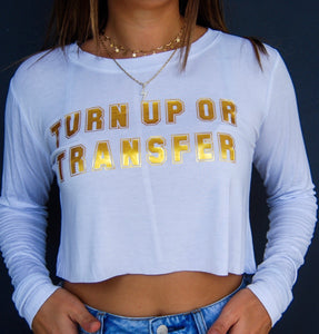 College Tailgate Long Sleeve Crop Top