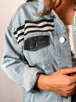 Load image into Gallery viewer, Las Vegas Raiders Denim Jersey Jacket