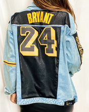 Load image into Gallery viewer, Kobe Bryant Lakers Denim Jersey Jacket