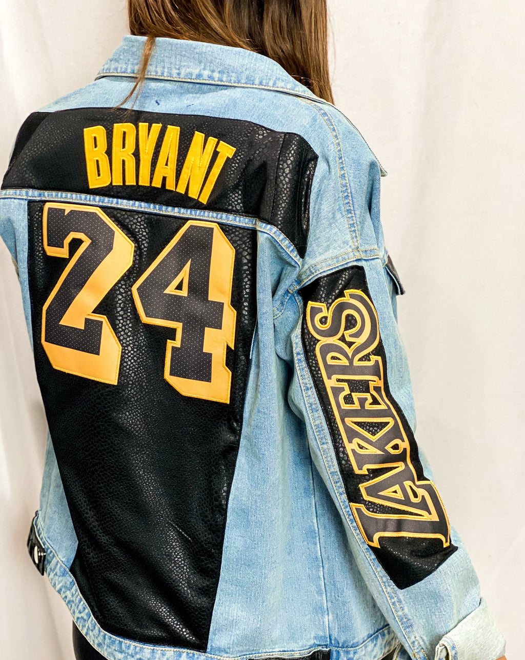 Kobe Bryant Lakers Denim Jersey Jacket