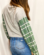 Load image into Gallery viewer, University of Miami Hurricanes Flannel Sleeve Crop Top