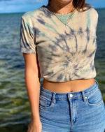Load image into Gallery viewer, Love Not War Tie Dye Cropped Tee
