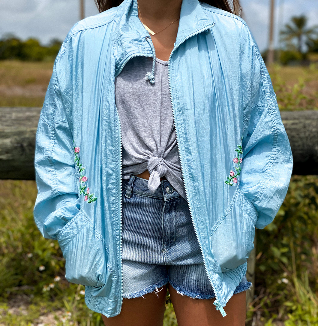 Baby Blue Windbreaker