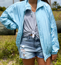 Load image into Gallery viewer, Baby Blue Windbreaker