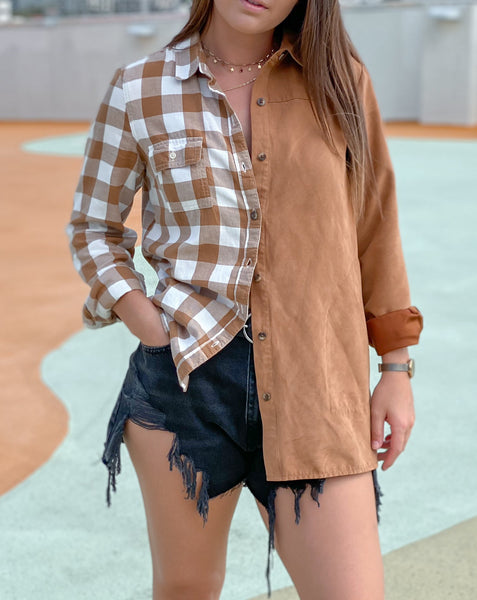 Hay Ride Tan Flannel Shirt