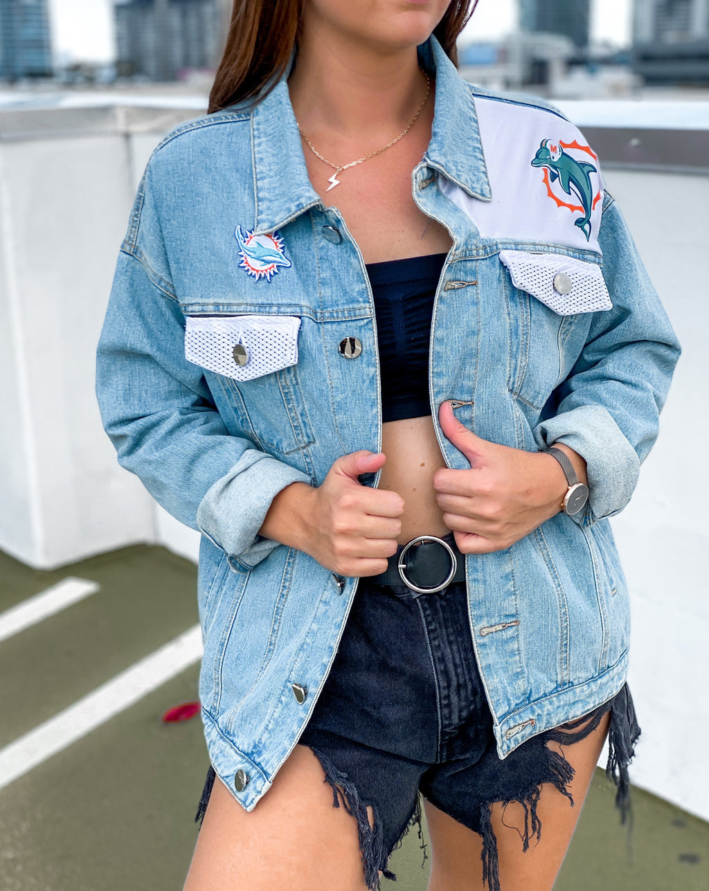 Miami Dolphins Jersey Denim Jacket