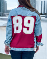 Load image into Gallery viewer, Florida State Seminoles Jersey Denim Jacket