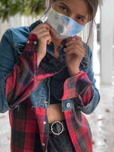 Better Together Flannel Denim Jacket