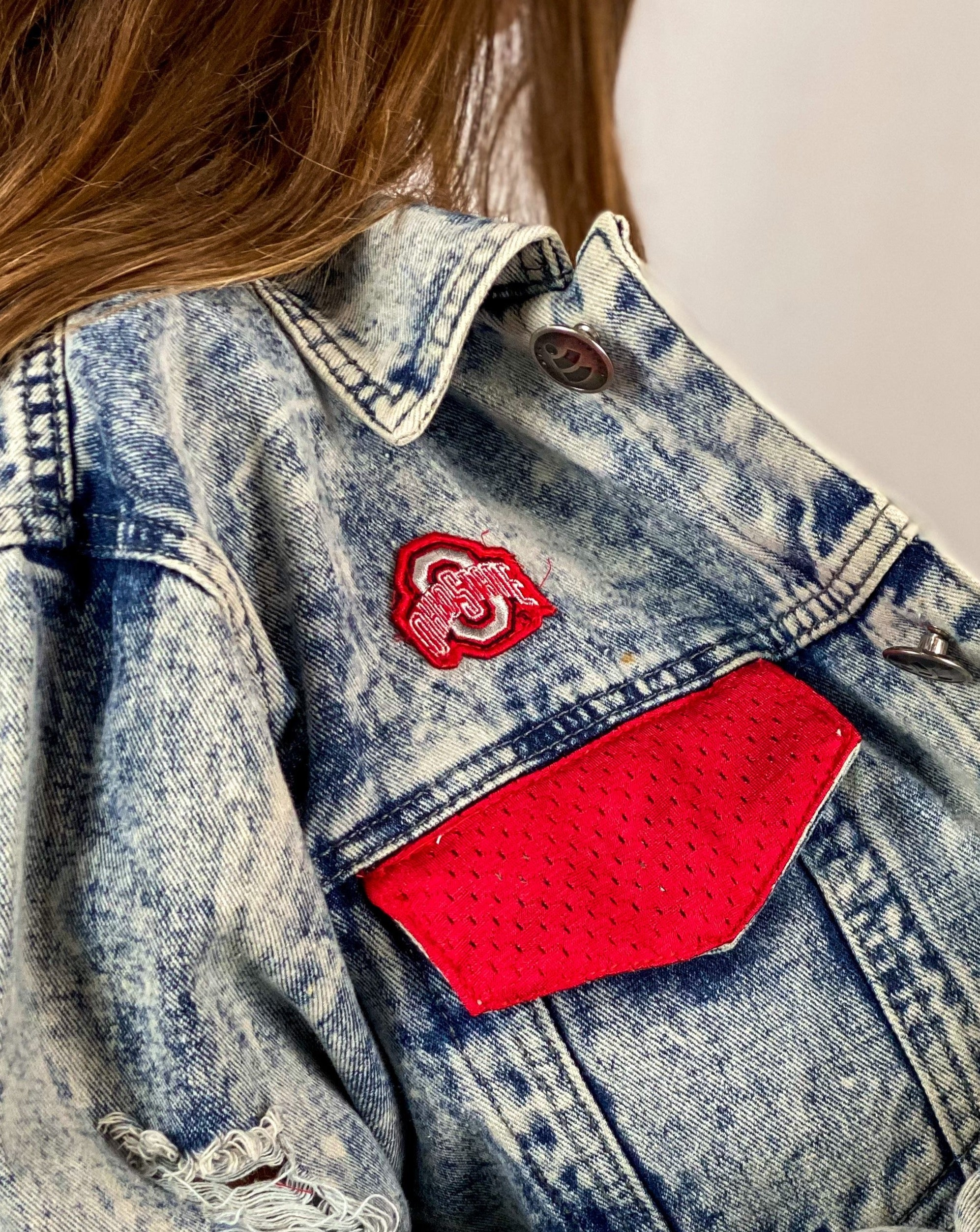Ohio State Buckeyes Denim Jersey Jacket