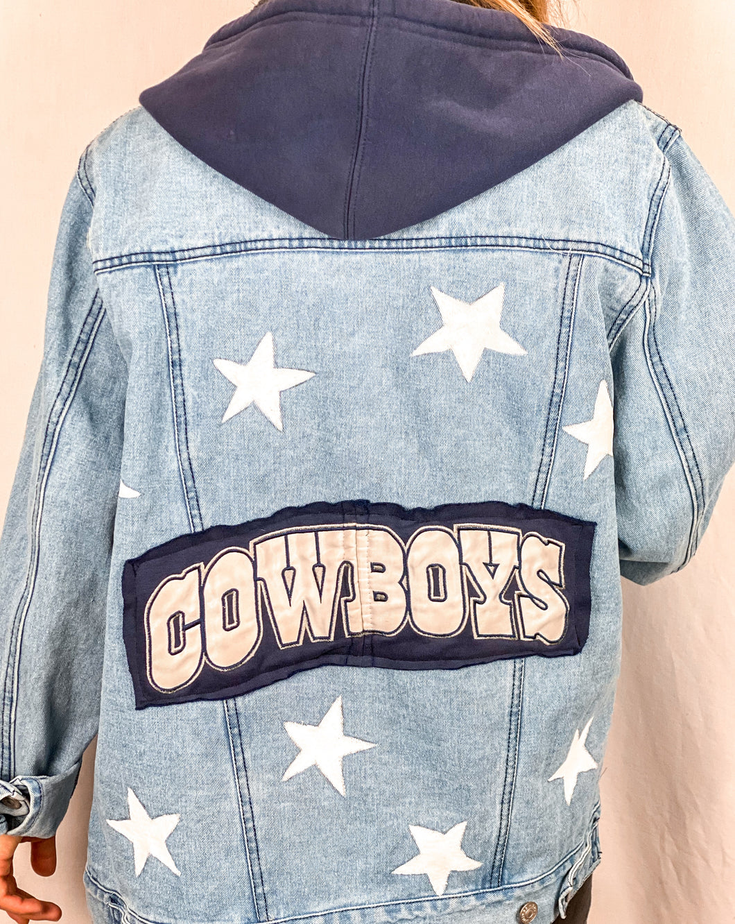 Dallas Cowboys Hooded Denim Jacket