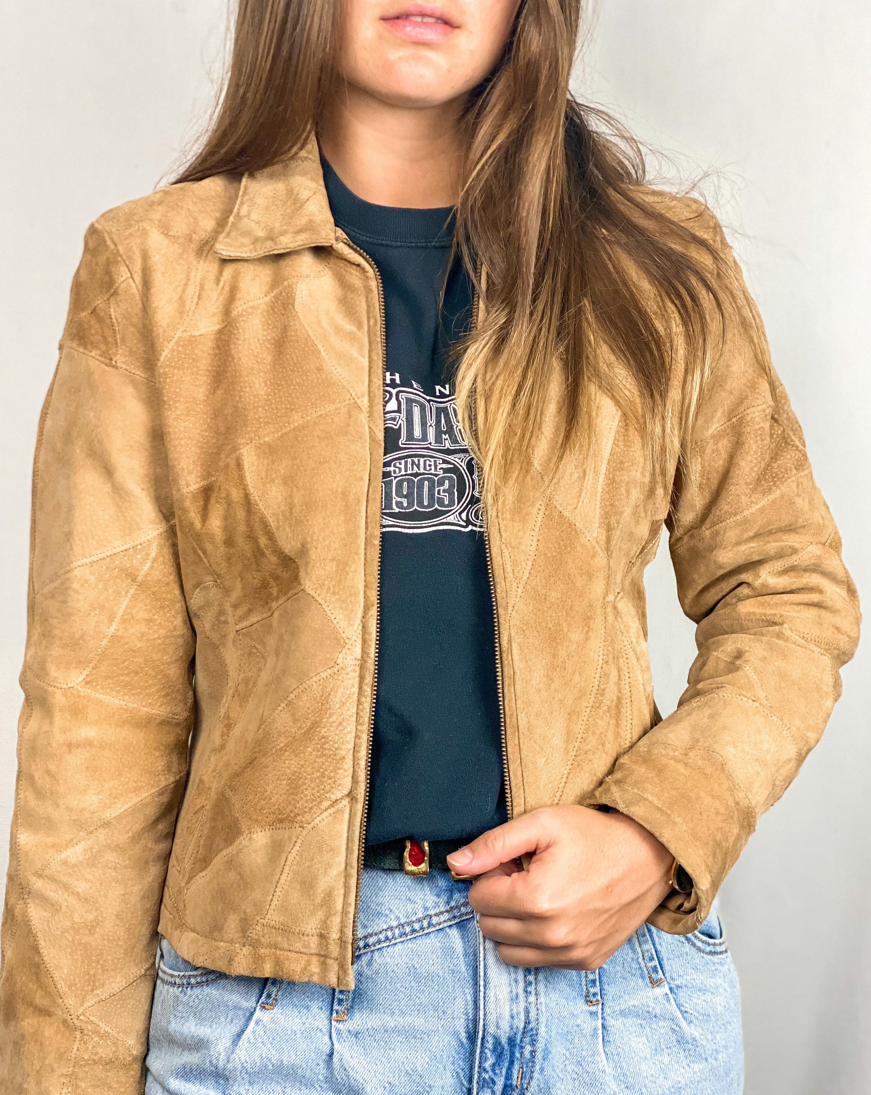Natural Leather Tan Jacket