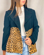 Load image into Gallery viewer, 1990s Black and Leopard Duo Blazer