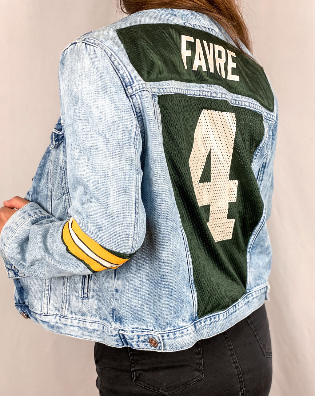 Green Bay Packers FAVRE Denim Jersey Jacket