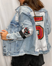 Load image into Gallery viewer, Tampa Bay Buccaneers Denim Jersey Jacket