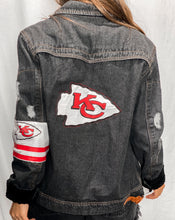 Load image into Gallery viewer, Kansas City Chiefs Denim Jersey Jacket