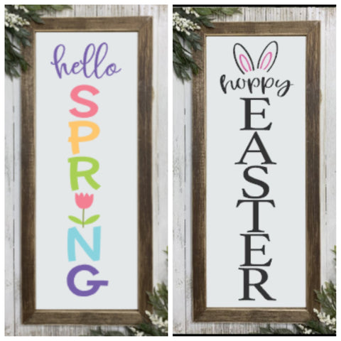 DIY Hello Spring Hoppy Easter Reversible Kit