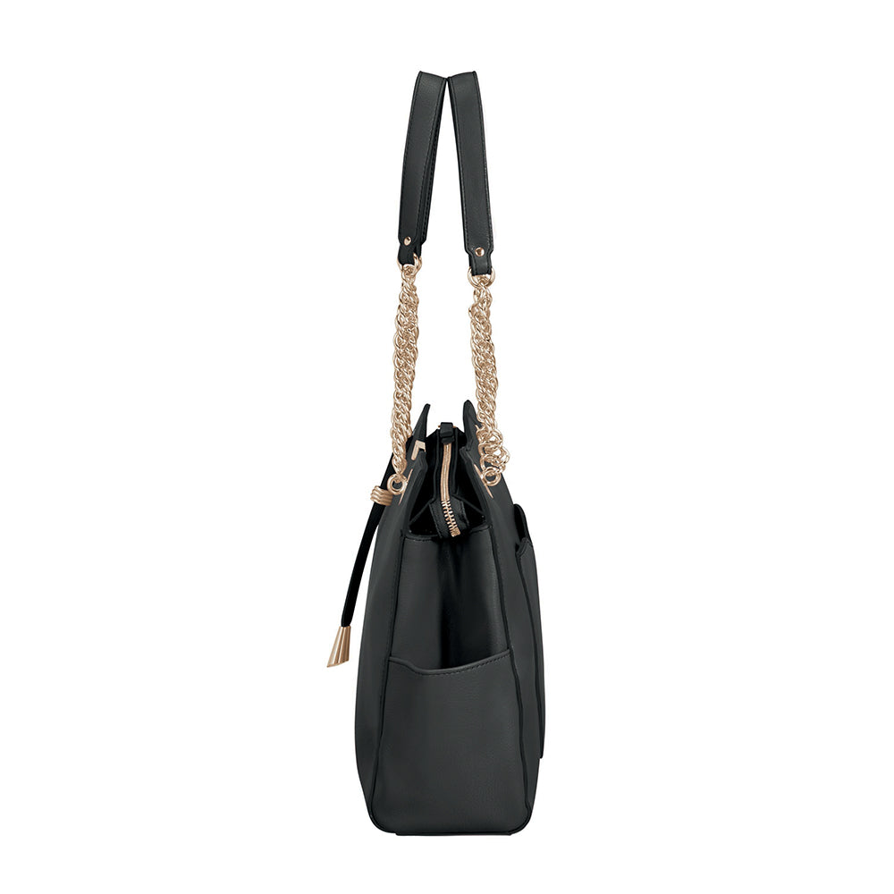 Cartera Satiny 2.0 Shopping Bag Black Grande 4,2 Lts