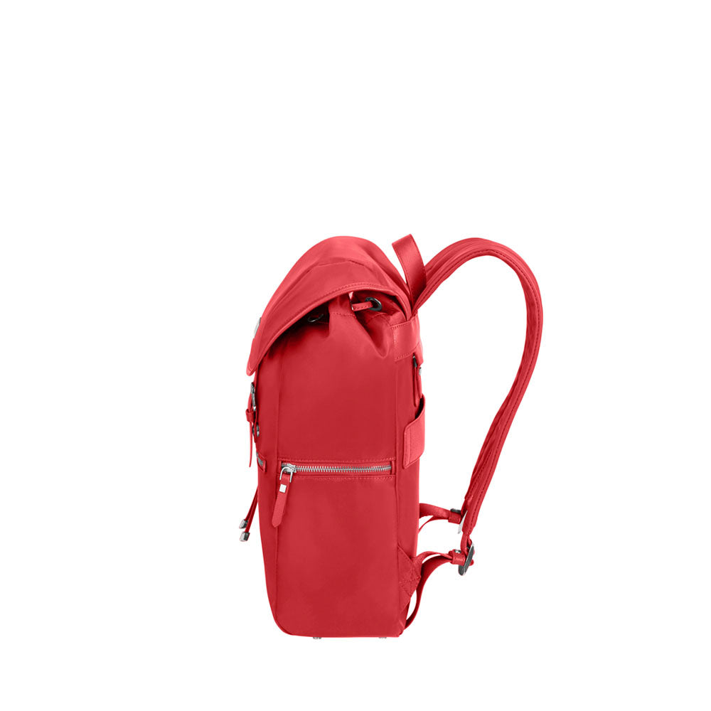 Mochila KARISSA BIZ Backpack 14.1  + Flap W/USB Formula Red