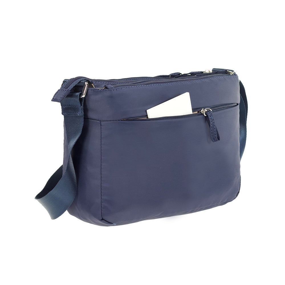 Cartera Move It Horizontal Shoulder Bag + Flap Azul Oscuro