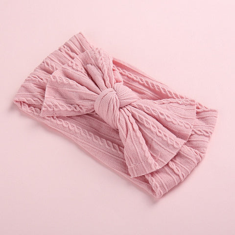 Cute Baby Girl Headbands Knitted Newborn Baby Bows Haarband Turban Infant Head Bands Hairbands For Kids Girls Hair Accessories