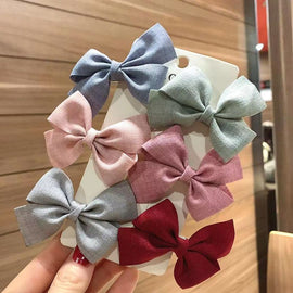 6Pcs/Set Kids Baby Hair Clip Colorful Bows Children Baby Girl Hair Clips Hairpin Haarspeldjes Barrettes Baby Hair Accessories