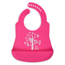 Load image into Gallery viewer, Hot Pink Owl Bib Catcher