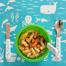 Load image into Gallery viewer, Under the Sea Utensil Set of 3 – Fork, Spoon and Knife
