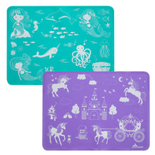 Load image into Gallery viewer, Mermaids and Unicorns Placemat Set