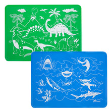 Load image into Gallery viewer, Dinosaur and Shark Placemat Set