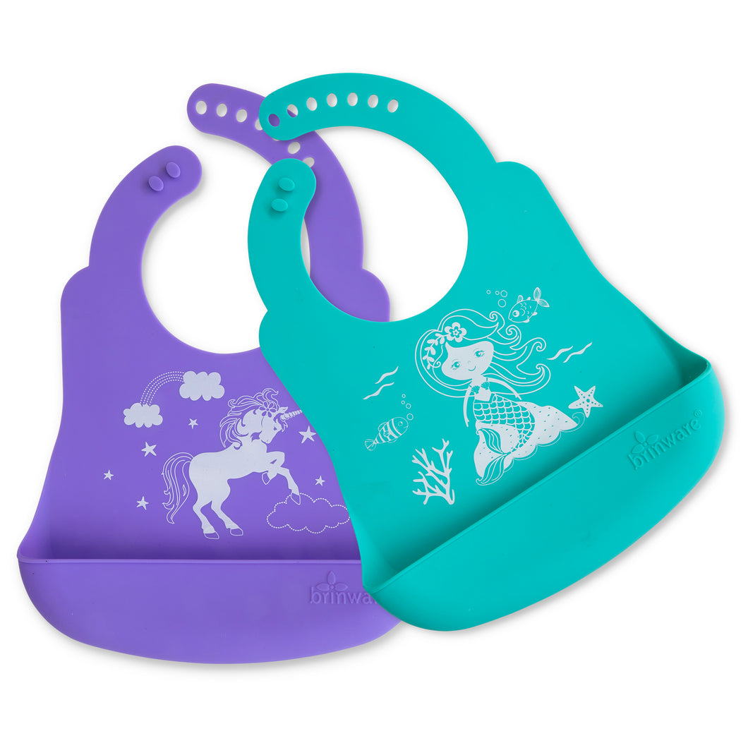 Mermaid and Unicorn Bib Catcher