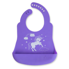 Load image into Gallery viewer, Mermaid and Unicorn Bib Catcher