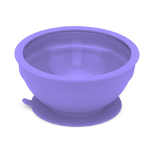 Load image into Gallery viewer, Glass and Silicone Suction Bowls Set of 2 (Teal and Purple)