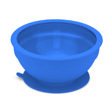 Load image into Gallery viewer, Glass and Silicone Suction Bowls Set of 2 (Hunter and Royal Blue)