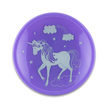 Load image into Gallery viewer, Mermaid and Unicorn Tempered Glass and Silicone Plate Set