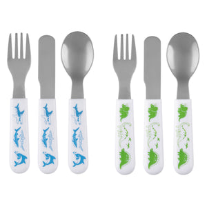Dino and Shark Utensil Set of 2