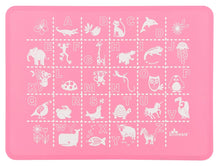 Load image into Gallery viewer, ABC & 123 Pink/Purple Placemat Set