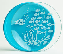 Load image into Gallery viewer, Owl and Fish Tempered Glass and Silicone Plate Set