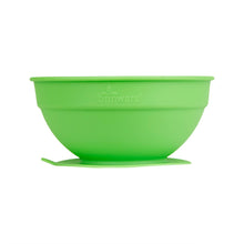 Load image into Gallery viewer, Glass and Silicone Suction Bowls Set of 2 (Blue and Green)