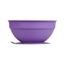 Load image into Gallery viewer, Glass and Silicone Suction Bowls Set of 2 (Pink & Purple)