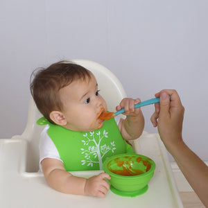 Brinware Feeding Set with Spoon – Blue/Green