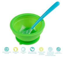 Load image into Gallery viewer, Brinware Feeding Set with Spoon – Blue/Green