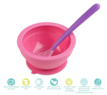 Load image into Gallery viewer, Brinware Feeding Set with Spoon – Pink/Purple