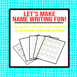 Name Writing Worksheets Bundle