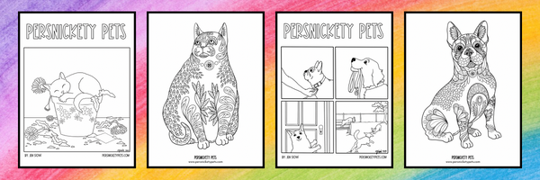 Persnickety Pets July Coloring Pages