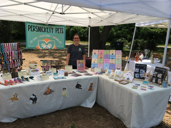 Persnickety Pets: Set up at the Mobile Bay Maker's Market