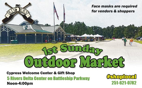 5 Rivers 1st Sunday Outdoor Market flyer
